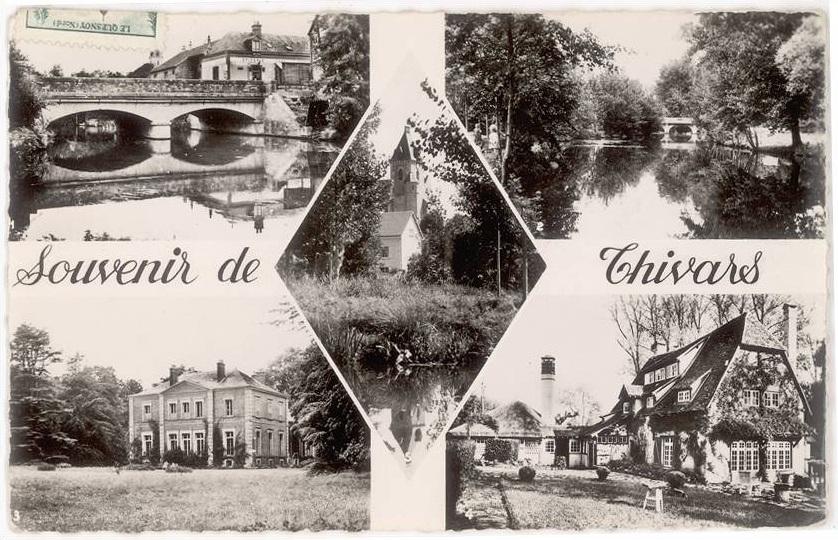 Une carte postale de souvenirs de Thivars