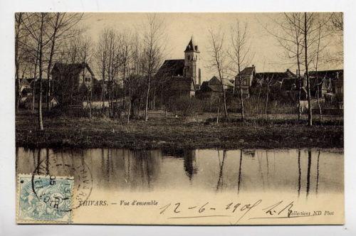 Photo carte ancienne : vue d'ensemble du village depuis les prés